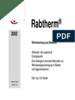 Rabtherm - Wärmenutzung aus Abwasser (récuperation des eaux usées)