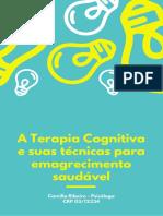 A Terapia Cognitiva e sua técnicas para emagrecimento saudável