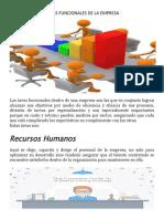 ÁREAS FUNCIONALES DE LA EMPRESA (1)