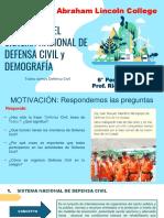 VALORAMOS EL SISTEMA NACIONAL DE DEFENSA CIVIL y DEMOGRAFÍA