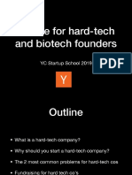 Advice for hard-tech and biotech founders
