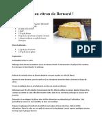 Cake ultime au citron de Bernard