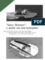Saucy Skimmer AKA Saucy Shingle Hydroplane Boat Plans