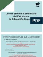 Clase magistral Concurso UC Ley del _SERVICIO_COMUNITARIO