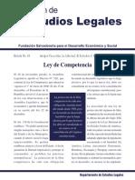 Comentarios de FUSADES sobre la Ley de competencia de El Salvador