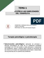TEMA 1. INTRODUCCIÓN A LAS HABILIDADES DEL TERAPEUTA.