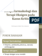 UPDATE PDPI Terapi Farmakologi dan Terapi Oksigen pada Kasus Kritis(1)