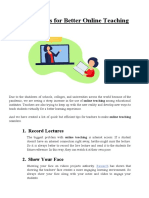 13 Simple Tips for Better Online Teaching   EduVue