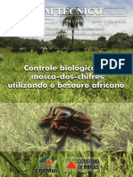 Controle biológico da Mosca dos Chifres utilizando besouro africano