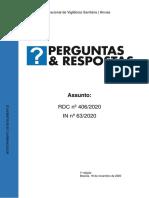 Perguntas e Respostas_RDC 406 e IN 63_2020