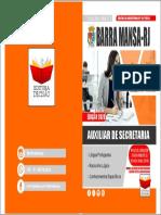 CAPA BARRA MANSA-RJ 2020 - AUXILIAR DE SECRETARIA