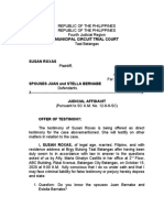 SUSAN ROXAS JUDICIAL AFFIDAVIT