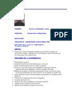 Curriculum Arq. Gustavo Fernandez