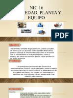 NIC 16 - Propiedad Planta y Equipo