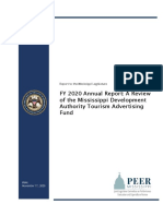 PEER MDA Tourism Advertising Fund Review 2020