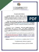 OFERTA AGCDR DE PROGRAME DE    FORMARE-DECEMBRIE 2020