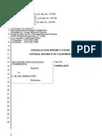 SEC Complaint Against S. Blair Abernathy