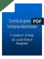 Controle de gestion decentralisé