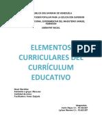 ELEMENTOS CURRICULARES DEL CURRÍCULUM EDUCATIVO