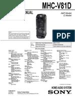 mhc V81D Home Audio System