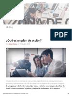 ¿Qué es un plan de acción_