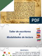 TALLER DE ESCRITORES Y MODALIDADES DE LECTURA.ppt