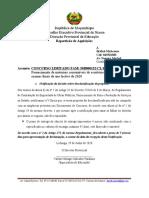 Notificações da decisão sobre desclassificação da proposta - EXAMES 2020