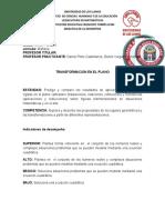 UNIDAD DIDACTICA TRANSFORMACION EN LOS PLANOS