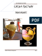 ICE CREAM FACTORY FINAL REPORT