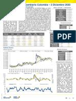 Reporte Mercado Cambiario Colombia - 2 de Diciembre de 2020