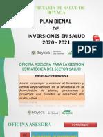 PLAN BIENAL DE INVERSIONES