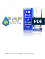 10 Health Benefits of Drinking Alkaline Water