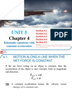 UNIT 5-PHY 131 Chapter 4-Kinematics equations along a line with contact acceleration