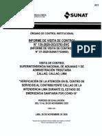 INFORME DE VISITA DE CONTROL Nº 135-2020-OCI-3793-SVC