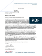 Example of ATA's Letter