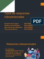 Diapositiva Tipos de relaciones interpersonales