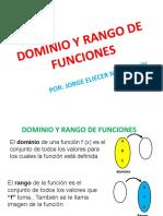EXPLICACIÓN- TALLER SOBRE DOMINIO Y RANGO DE FUNCIONES