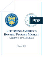 Reforming America's Housing Finance Market (Final -- Feb 2011)