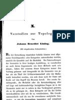 Vorstudien zur Topologie - listing