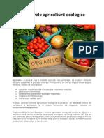 Obiectivele agriculturii ecologice