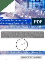 Aula 56 - Circunferência, corda e diâmetro + Partes do círculo