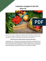 Exportul produselor ecologice în țări din afara UE