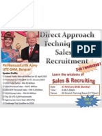 Direct Approach Techniques in Sales Recruitment