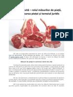 Carnea de vită – rolul măsurilor de piață, monitorizarea pieței și temeiul juridic