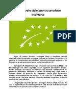 Obiectivele siglei pentru produse ecologice