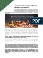 Produsele Traditionale Romanesti - Posibilitati de finantare, legislatie si informatii utile