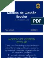 Modelo de gestión escolar 2011