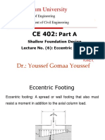 6-Eccecntric Footing