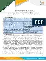 Syllabus del curso Competencias Comunicativas