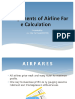 Components of Airline Fare Calculation